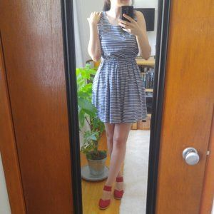 Superdry Nautical Striped Cotton Dress +Necklace